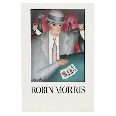 "Offset Lithograph After Robin Morris ""Poker Face,"" 1991"