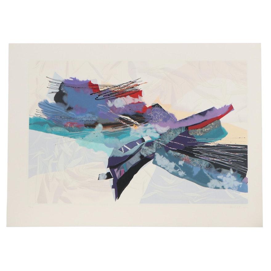 Smadar Livne Abstract Serigraph, Circa 2000
