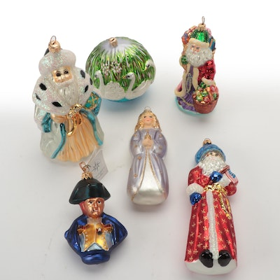 Christopher Radko and Other Hand-Painted Blown Glass Christmas Ornaments