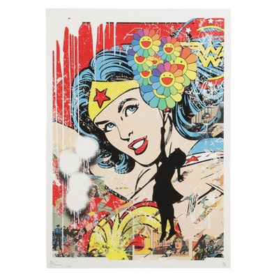 Death NYC Wonder Woman Pop Art Graphic Print, 2020