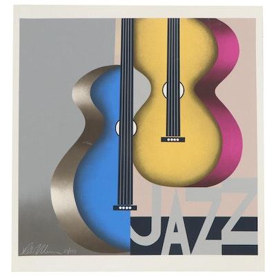 "Robin Morris Serigraph ""Jazz,"" Late 20th Century"