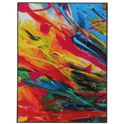 """Robert Lackney Abstract  Giclée """"Day in the Sun,"""" 21st Century"""