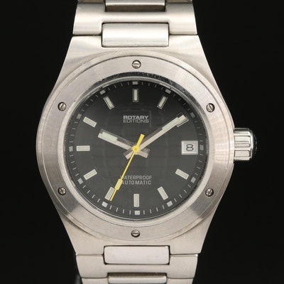 Rotary Editions Series 300 Stainless Steel Automatic Wristwatch