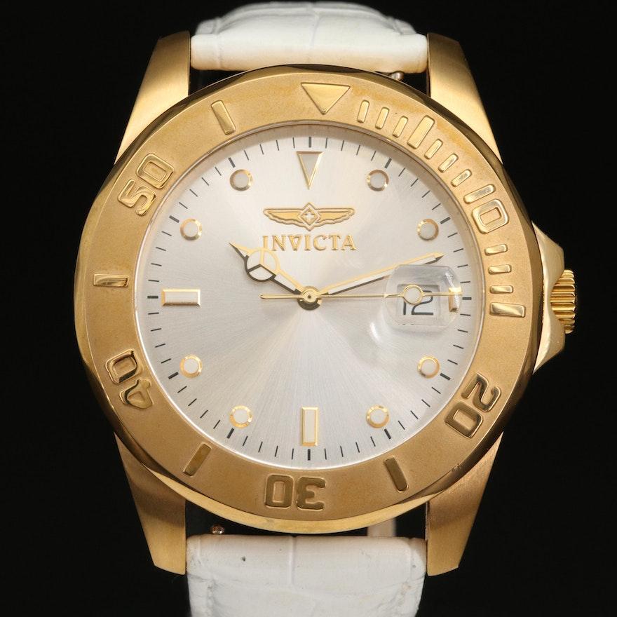 Invicta Pro Diver Gold Tone Stainless Steel Quartz Wristwatch