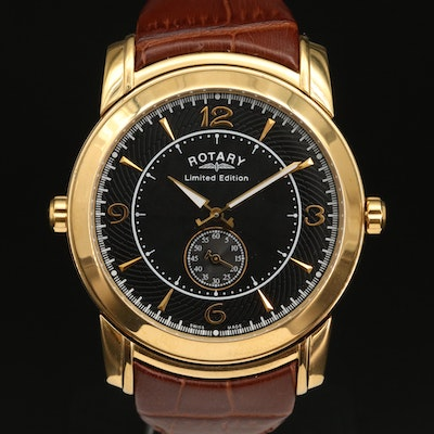 Rotary Revelation Reversible Dial Limited Edition Stainless Steel Wristwatch