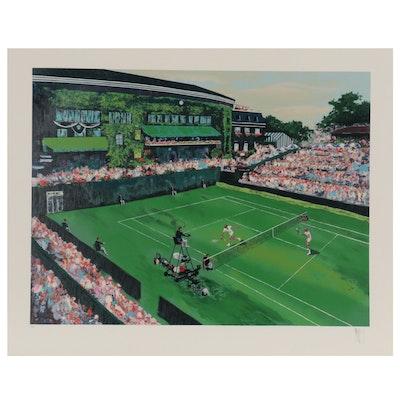 "Mark King Serigraph ""Wimbledon Afternoon"""