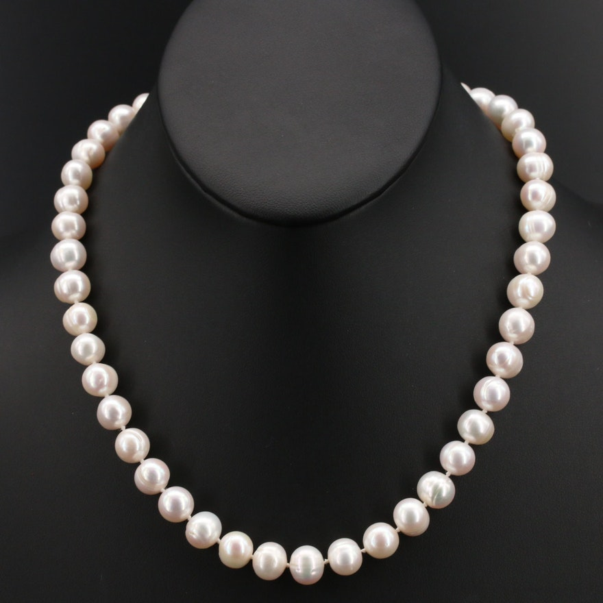 Pearl Necklace with Sterling