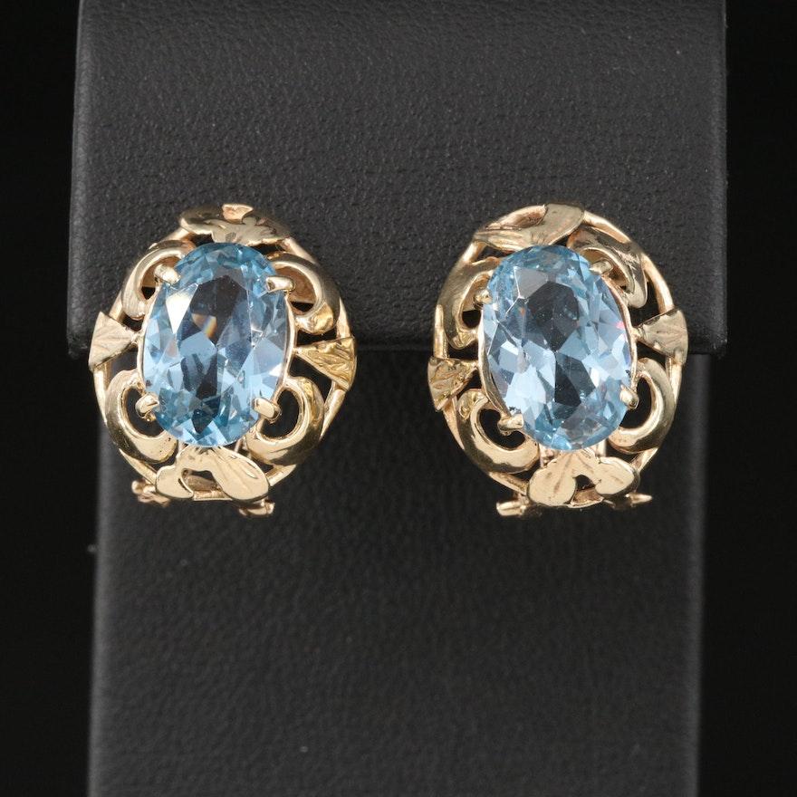 14K Openwork Spinel Earrings