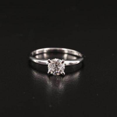 14K 0.72 CT Diamond Solitaire Ring