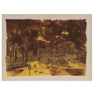 "Arthur Secunda Lithograph ""After the Storm,"" 1974"