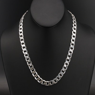 Sterling Curb Chain Necklace