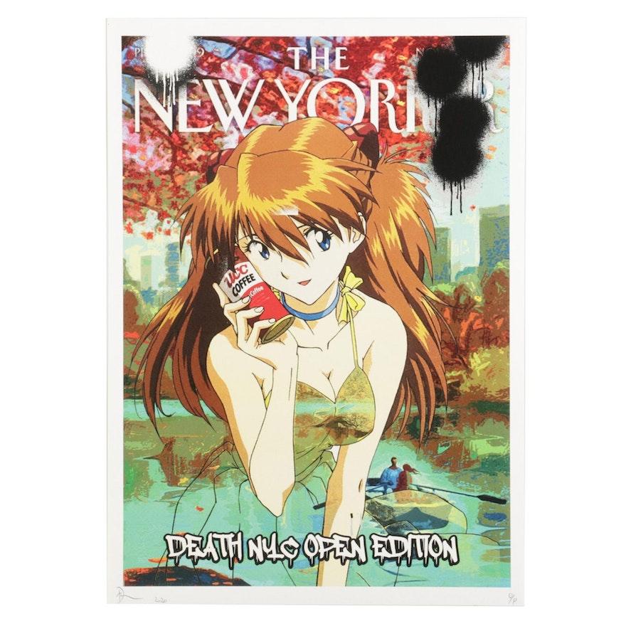 "Death NYC Pop Art Graphic Print of ""Neon Genesis Evangelion"" Asuka, 2020"