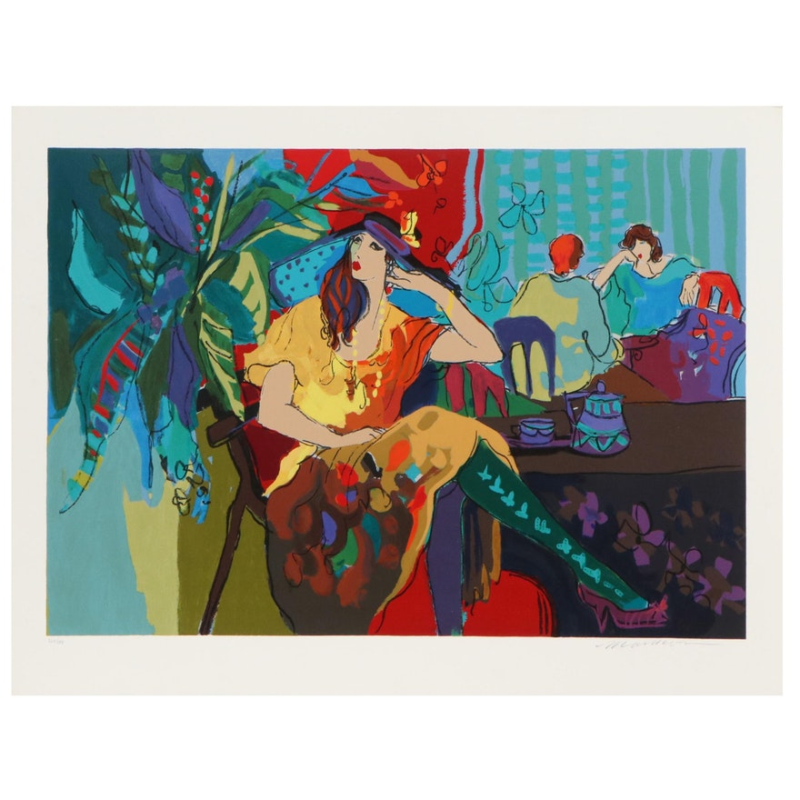 """Isaac Maimon Serigraph """"Table for One,"""" 1991"""