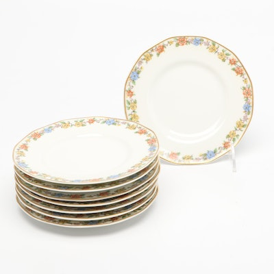 """Theodore Haviland Limoges """"Rosemary"""" Porcelain Bread and Butter Plates"""