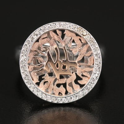 EFFY 14K WHITE & ROSE GOLD DIAMOND RING