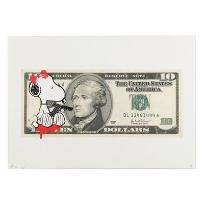 "Death NYC Pop Art Graphic Print ""Snoop $10,"" 2020"