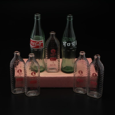 Stueber's Dairy Company Milk Bottles and Coca-Cola Glass Bottles