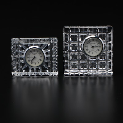 Waterford Crystal Desk Clocks, Contemporary