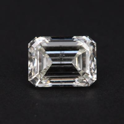 Loose 1.08 CT Emerald Cut Diamond with GIA Report
