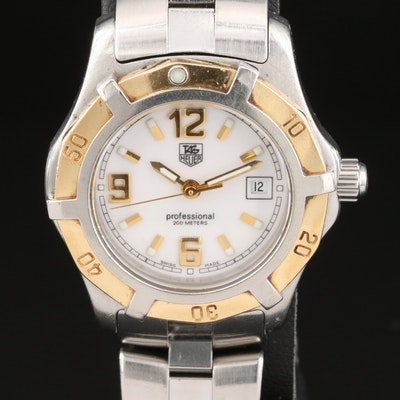 18k and Stainless Steel TAG Heuer Professional 200 Meters Wristwatch