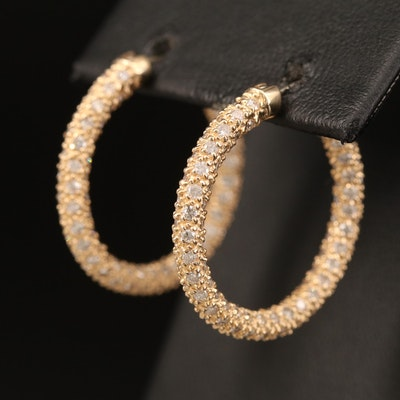 EFFY 14K YELLOW GOLD DIAMOND EARRINGS