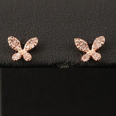 EFFY 14K ROSE GOLD DIAMOND EARRINGS