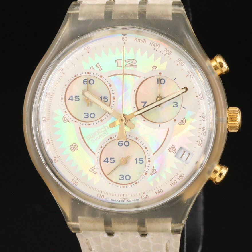 """Swatch """"Whipped Cream"""" Chronograph Wristwatch"""