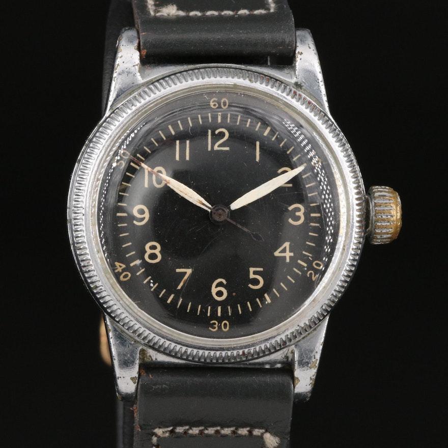 1943 Waltham Coin Edge Bezel & Back Wristwatch