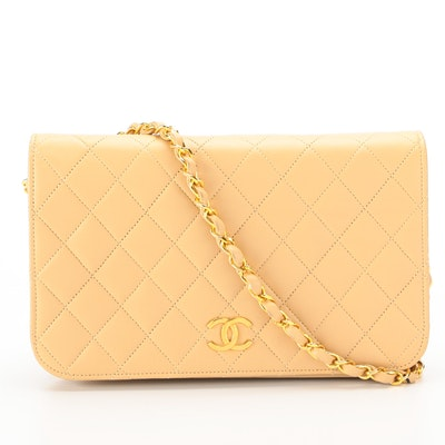 Chanel CC Convertible Clutch in Quilted Lambskin Leather