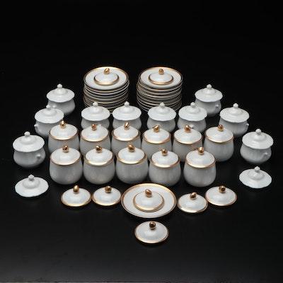 Fitz & Floyd, Nieman Marcus, and Other Porcelain Pots de Crème and Plates