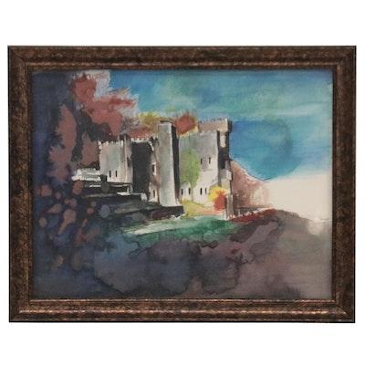 "Embellished Photomechanical Print ""Loveland Castle"""