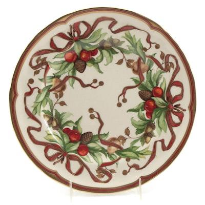 "Tiffany & Co. ""Tiffany Garland"" Porcelain Luncheon Plate"