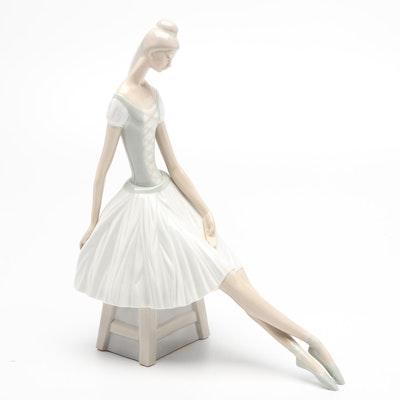 Lladró Porcelain Ballerina, Mid-Late 20th Century