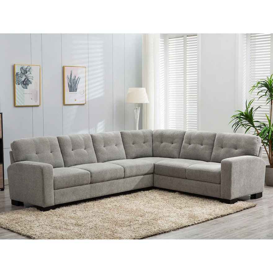"""Zoy Home Furnishing """"Annadale"""" Two-Piece Fabric Sectional"""