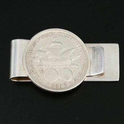 Tiffany & Co. Sterling Silver Money Clip with Commemorative Half Dollar