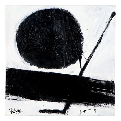 "Robbie Kemper Acrylic Painting ""Dot Angle"""