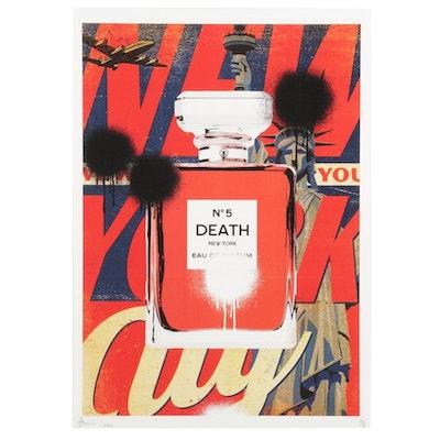 Death NYC Perfume Bottle Pop Art Graphic Print, 2020