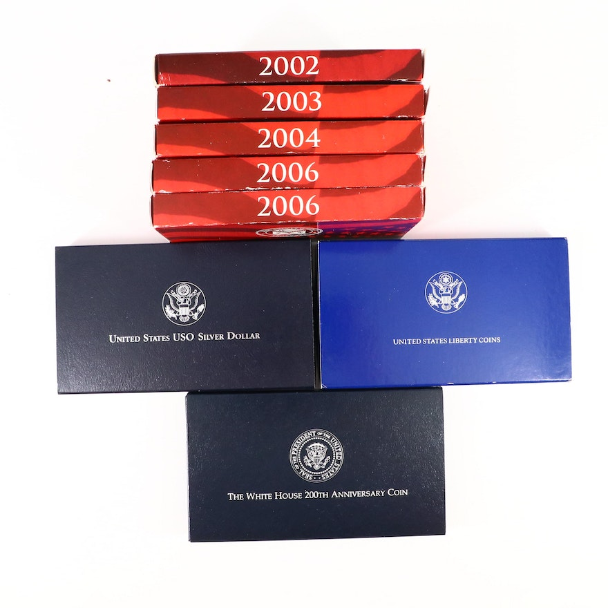 U.S. Mint Silver Proof Sets and Commemorative Silver Dollars