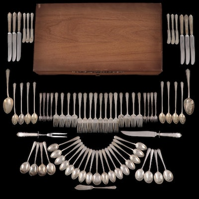 """International Silver Co. """"Moonglow"""" Sterling Silver Flatware, Mid-20th Century"""