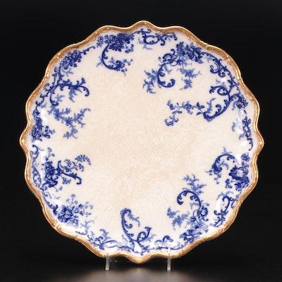English Ironstone Platter with Gilt Edge