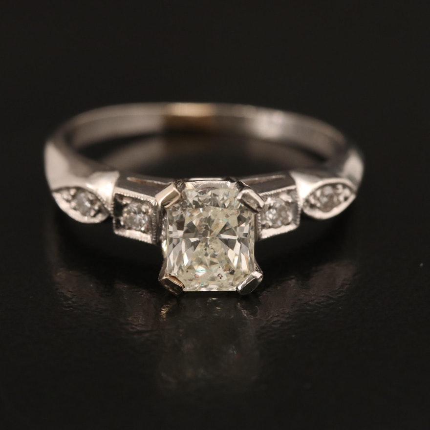 Vintage Platinum 1.15 CTW Diamond Ring