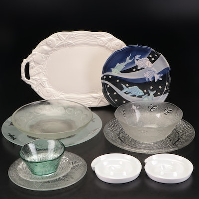 Fitz & Floyd, Cordon Bleu and Others Glass and Ceramic Bowls and Platters
