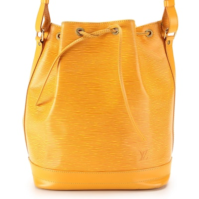 Louis Vuitton Noé Bucket Bag in Tassil Yellow Epi and Smooth Leather