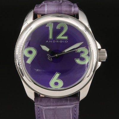 Android Stainless Steel Quartz Wristwatch