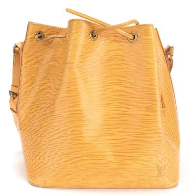 Louis Vuitton Petite Noé Bag in Tassil Yellow Epi Leather