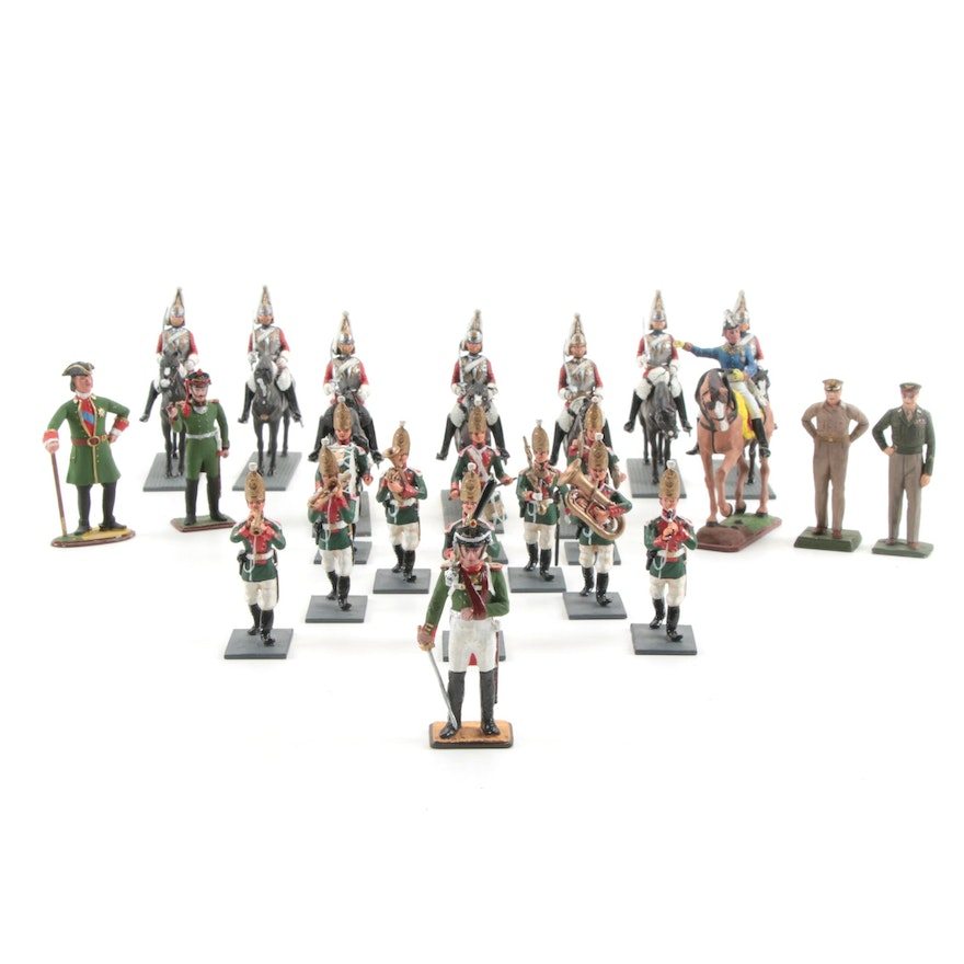 19th and 20th Century Military Themed Painted Cast Metal Figurines
