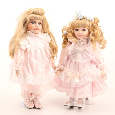 "Hamilton Dolls ""Heather"" by Joke Grobben, and Marie Osmond ""Madeleine"" Doll"