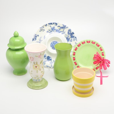 Tracy Porter Flower Vase And Others Assorted Plates and Crockery
