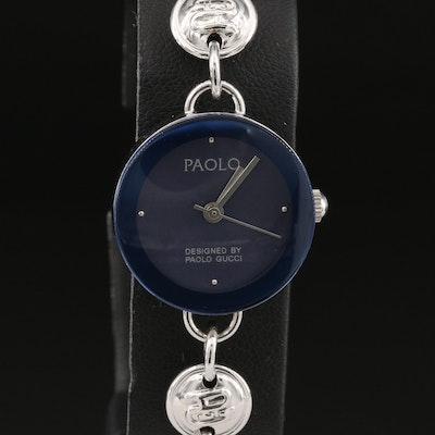 Paola Gucci Chrome Plated Quartz Wristwatch