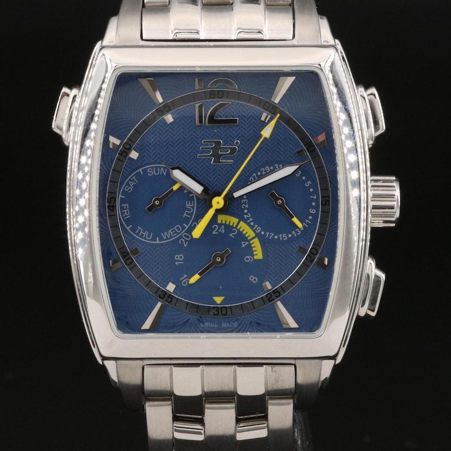 32 Degrees Stainless Steel Multifunction Quartz Wristwatch